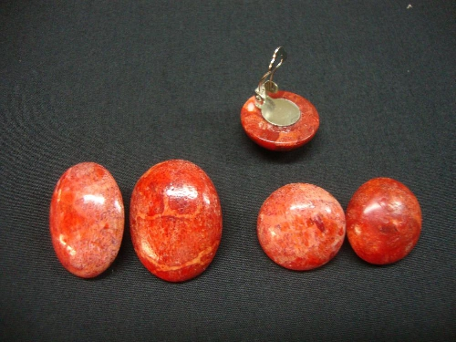 Pte.apple clip red/oval